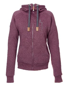 Winter hoody damen vront